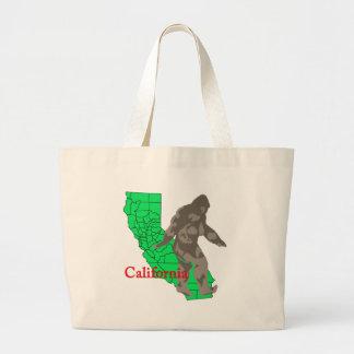 California bigfoot large tote bag