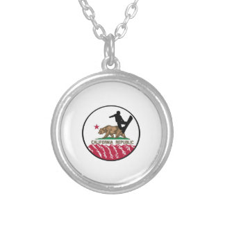 California Boarders Silver Plated Necklace