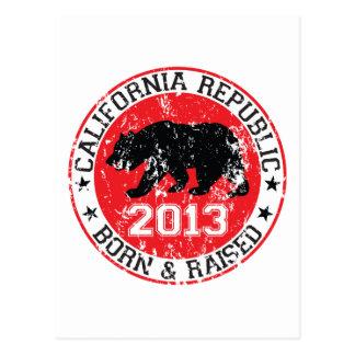 California Born and Raised 2013 Postcard