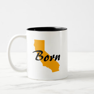 California Born, Texas Raised Two-Tone Coffee Mug