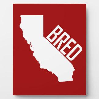 California Bred Plaque