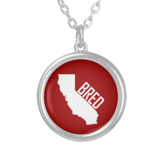 California Bred Silver Plated Necklace