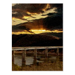 California Bridge Sunrise Postcard