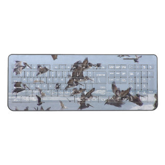 California Brown Pelican Birds Wireless Keyboard