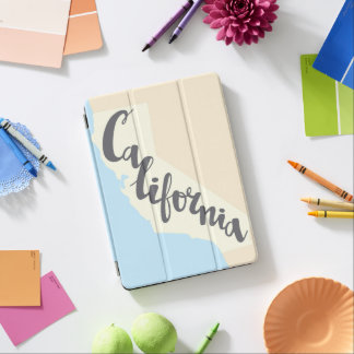 California Brush Lettering With Silhouette Map iPad Air Cover