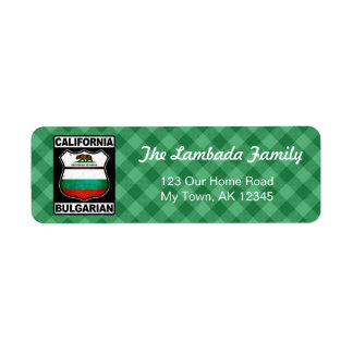 California Bulgarian American Address Labels