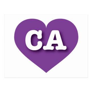 California CA purple heart Postcard