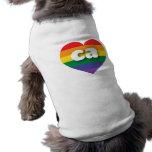California ca rainbow pride heart pet tee