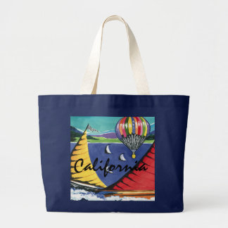 California canvas large tote bag