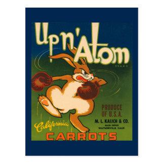 California Carrots Crate Label Postcard