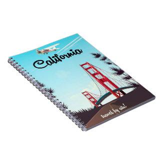 California Cartoon travel poster Notebooks
