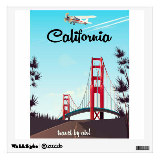 California Cartoon travel poster Wall Sticker