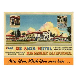 California, Casa de Anza Postcard