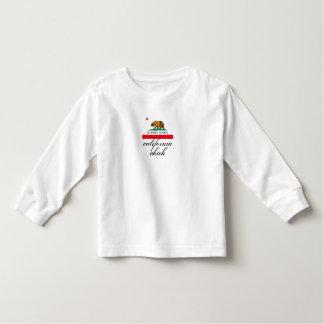 california chick + flag toddler t-shirt