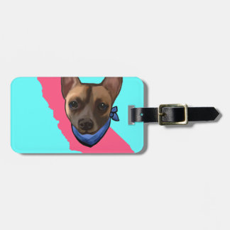 CALIFORNIA CHIHUAHUA LUGGAGE TAG
