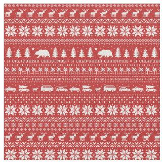 California Christmas   Love Joy Peace Sunshine Fabric