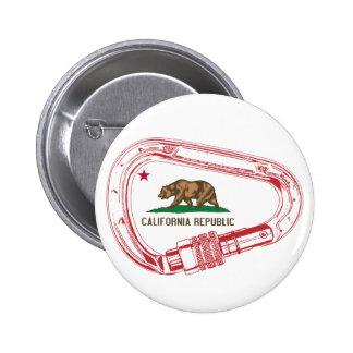 California Climbing Carabiner 2 Inch Round Button