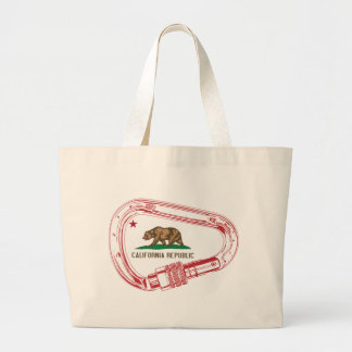 California Climbing Carabiner Large Tote Bag
