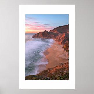California Coast Above Pacifica Poster