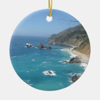 California Coast Ceramic Ornament