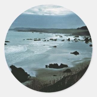 California coast classic round sticker