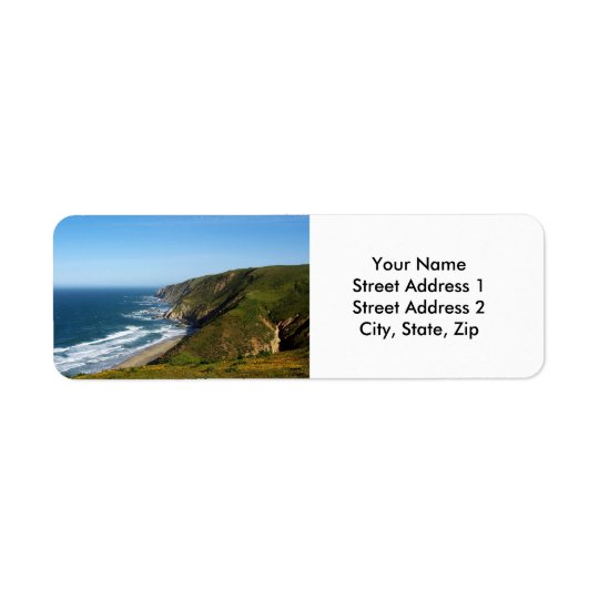 California Coast Return Address Label