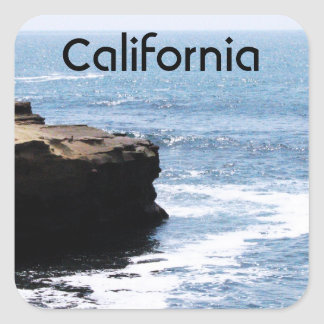 California Coast Square Sticker