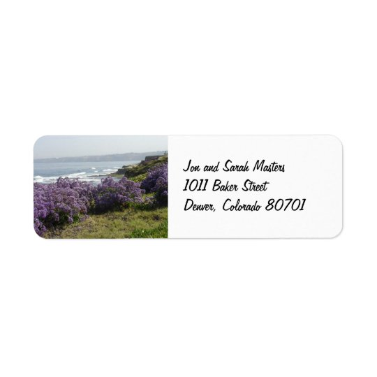 California Coastline Scenic Return Address Label