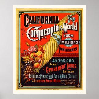 California - Cornucopia of the World Poster