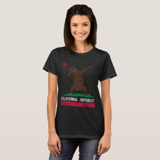 California Dabbing Bear Flag T-Shirt