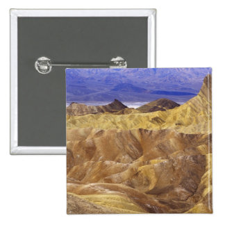 California: Death Valley NP, view from Zabriskie 2 Inch Square Button