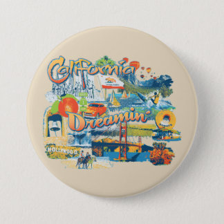 California Dreaming 3 Inch Round Button