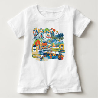 California Dreaming Baby Romper