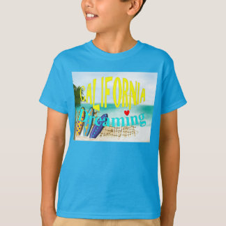 California Dreaming Beach Sun Surfing Graphic T-Shirt