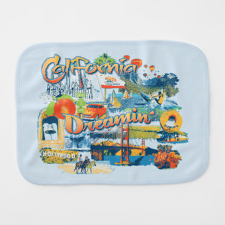 California Dreaming Burp Cloth