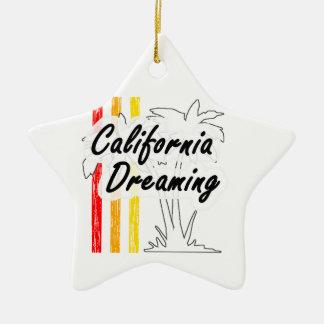 California Dreaming Ceramic Star Ornament