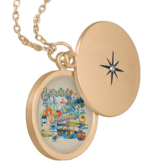 California Dreaming Locket Necklace