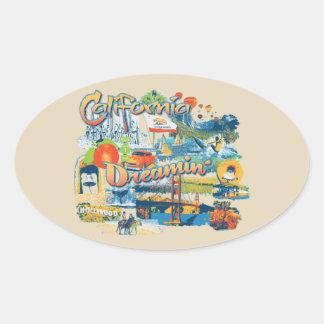 California Dreaming Oval Sticker