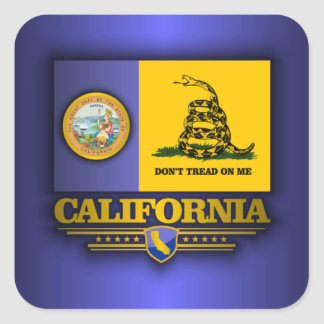 California (DTOM) Square Sticker