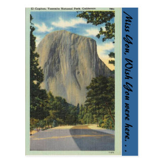California, El Capitan Postcard