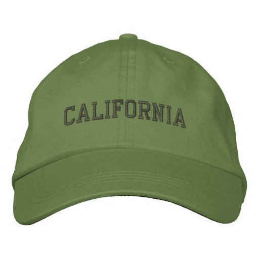 California Embroidered Adjustable Cap Cactus Embroidered Hat