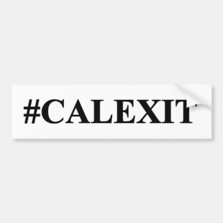california exit bumper sticker