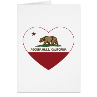 california flag agoura hills heart card