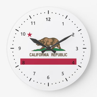 California flag, American state flag Large Clock