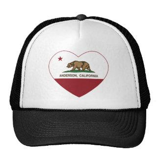 california flag anderson heart trucker hat