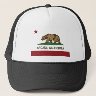 california flag arcata trucker hat