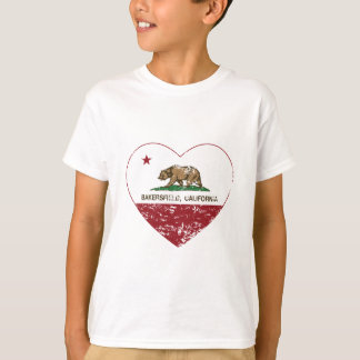california flag bakersfield heart distressed.png T-Shirt