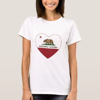 california flag bakersfield heart T-Shirt
