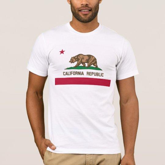 California Flag Basic American Apparel T-Shirt