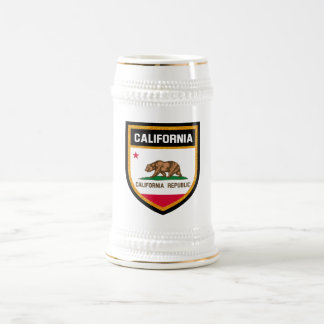 California Flag Beer Stein
